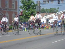 photo of Wheelmen at 2009 Great American Brass Band Festival parade