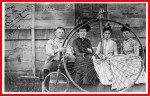 C. W. Savage poses with his wheel in Oberlin, Ohio. ca 1890